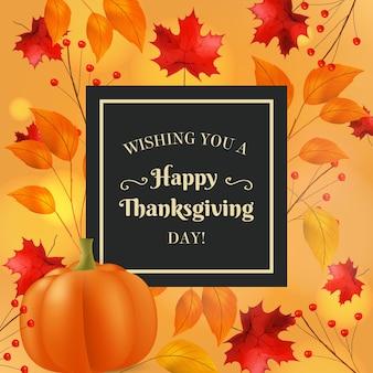 Realistyczny transparent dziękczynienia