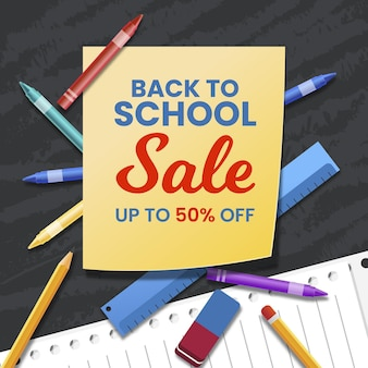 Realistyczny transparent sprzedaży do szkoły