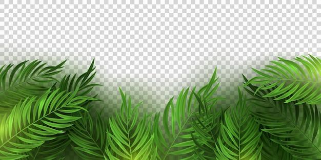 Realistyczny tropikalny bukiet z liści palmowych