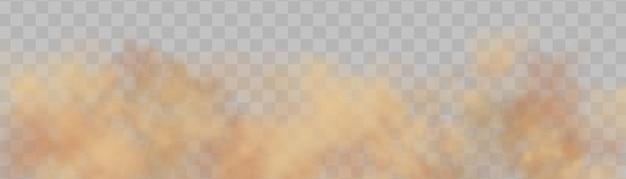 Realistyczny wektor izolowany kurz na przezroczystym tle