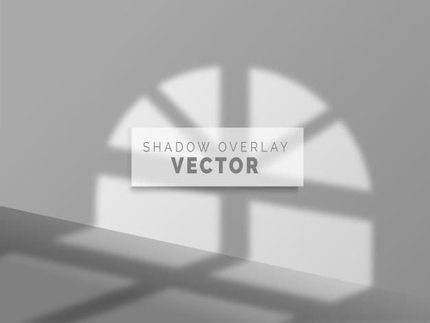Realistyczny wektor nakładki cienia na czystej ścianie