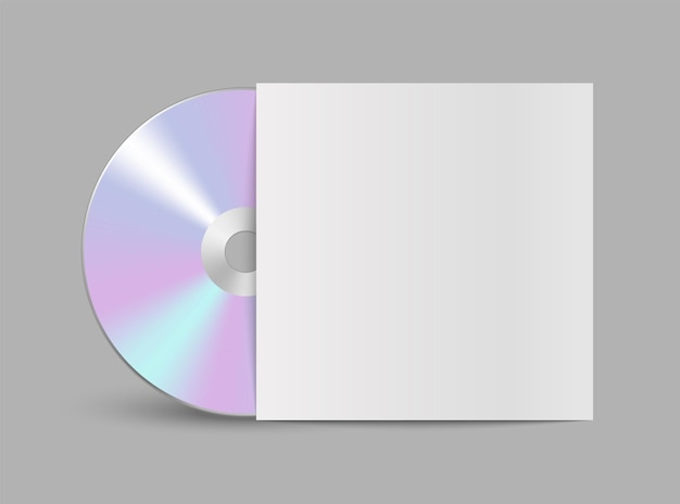 Realistyczny wektorowy dysk kompaktowy cd lub dvd