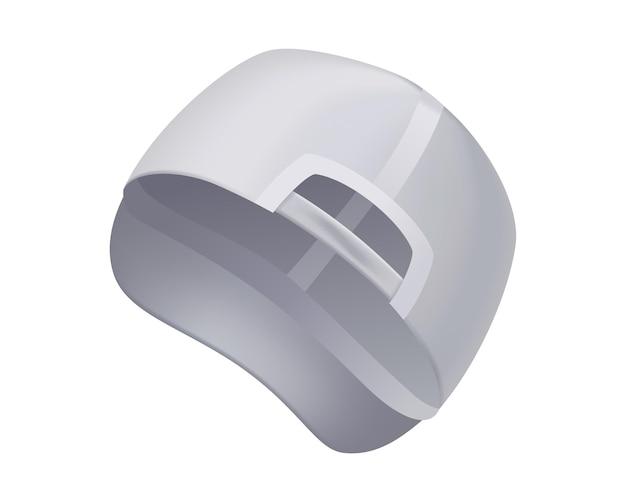 Realistyczny widok z boku szablonu czapki z daszkiem
