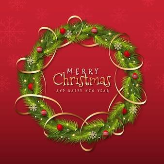 Realistyczny wieniec bożonarodzeniowy
