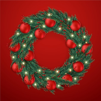 Realistyczny wieniec świąteczny
