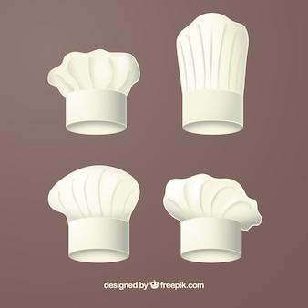 Realistyczny wybór wielkich kapeluszy kucharzy