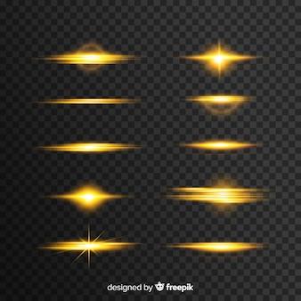 Realistyczny wybuch światła collectio