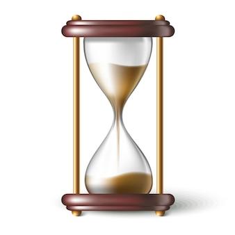 Realistyczny zegarek piaskowy.