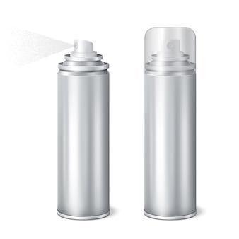 Realistyczny zestaw aluminiowych puszek natryskowych