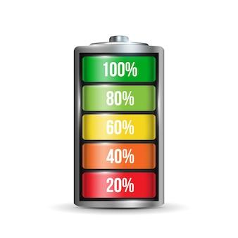 Realistyczny zestaw baterii alkalicznych.