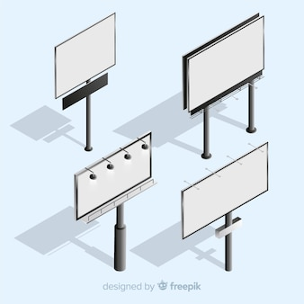 Realistyczny zestaw billboardów