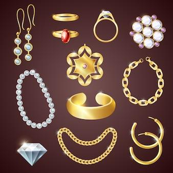 Realistyczny zestaw biżuterii
