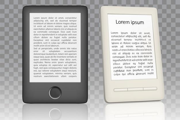 Realistyczny zestaw czytnika e-booków