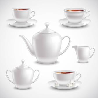 Realistyczny zestaw do herbaty