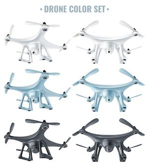 Realistyczny zestaw dronów