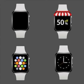 Realistyczny zestaw inteligentnych zegarków