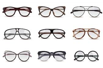 Realistyczny zestaw okularów