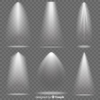 Realistyczny zestaw oświetlenia sceny