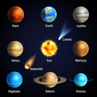 Realistyczny zestaw planet