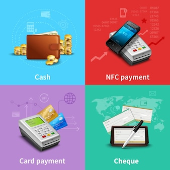 Realistyczny zestaw płatności