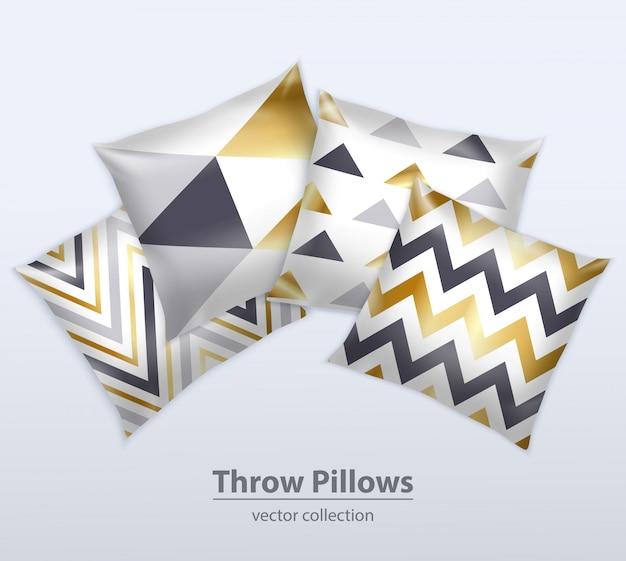 Realistyczny zestaw poduszek dekoracyjnych