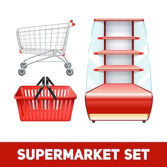 Realistyczny zestaw supermarketów