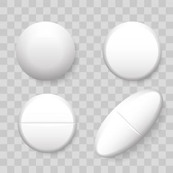 Realistyczny zestaw tabletek 3d