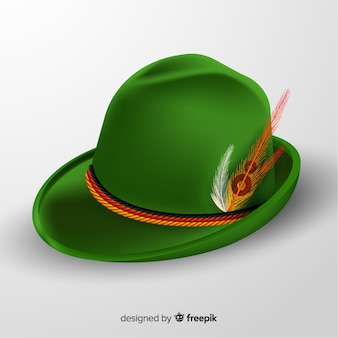 Realistyczny zielony kapelusz oktoberfest
