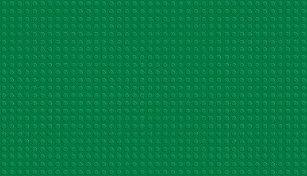 Realistyczny zielony plastikowy blok konstrukcyjny.