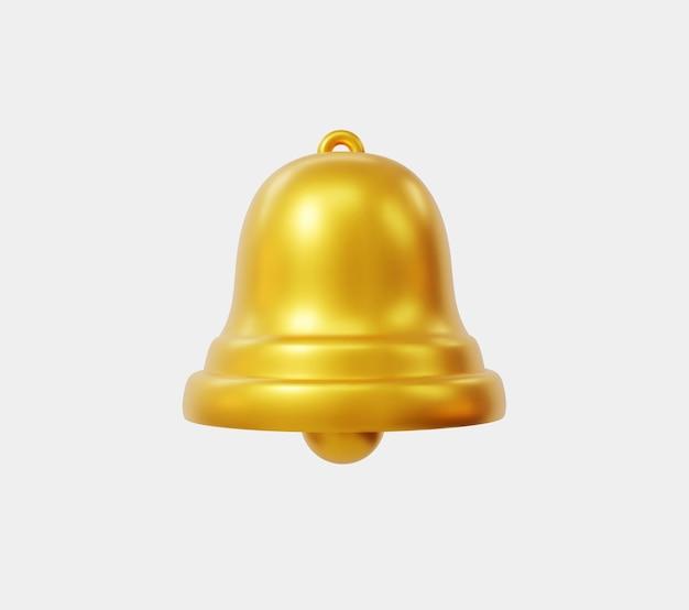 Realistyczny złoty dzwon wektor. element projektu do banerów, plakatów i broszur.