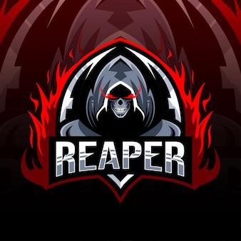 Reaper maskotka logo szablon projektu