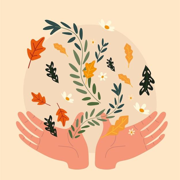 Ręce i kwiaty