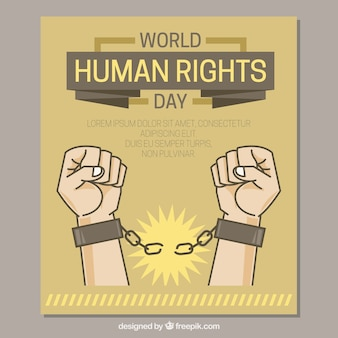 Ręce, które łamią prawa człowieka, łańcuchy dni