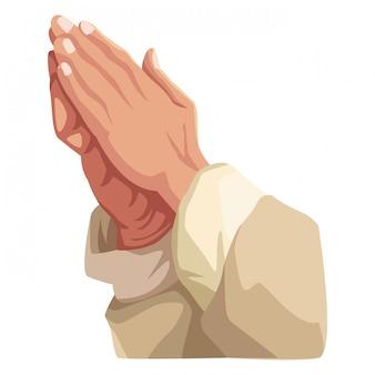 Ręce modląc się znak