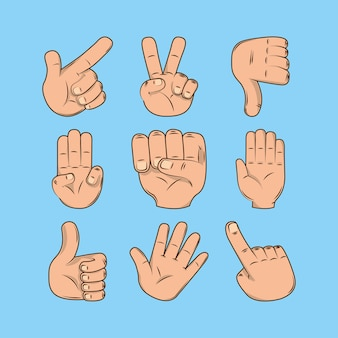 Ręce różne gesty