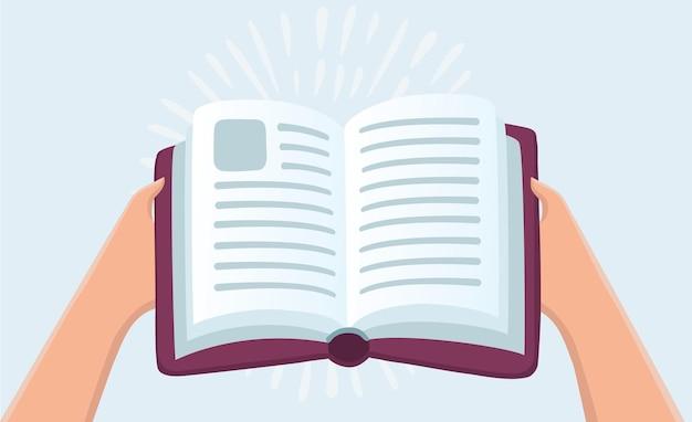 Ręce trzymając książkę