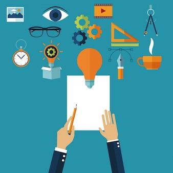 Ręce w procesie twórczym