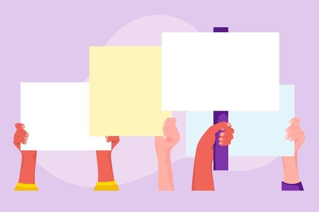 Ręce z koncepcją tabliczki
