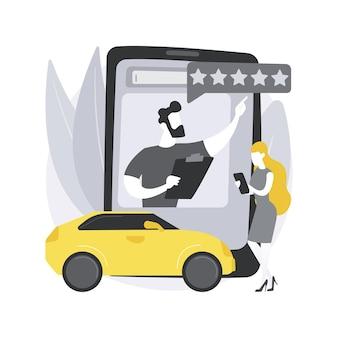 Recenzja samochodu abstrakcyjna koncepcja wideo