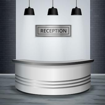 Recepcja lobby biuro wnętrze realistyczne