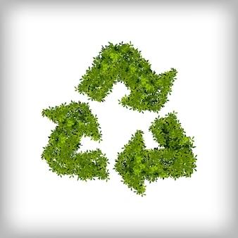 Recycle leaf design trójkątny recykling ekologiczny