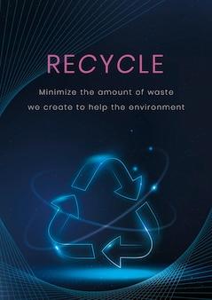 Recykling plakat szablon wektor technologii środowiska
