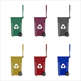 Recykling pojemników pojemników na śmieci
