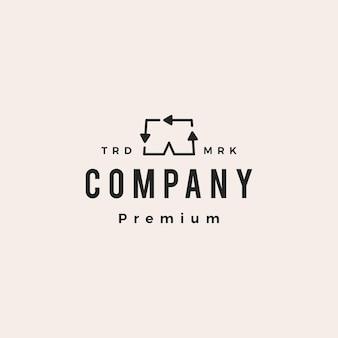 Recyklingu ponownego wykorzystania spodnie hipster vintage logo wektor ikona ilustracja