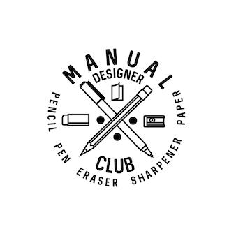 Ręczne logo klubu projektanta