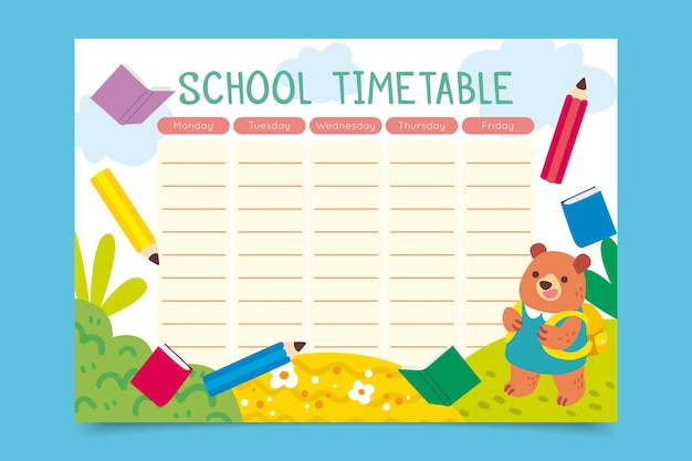 Ręcznie cofnięty do harmonogramu szkoły