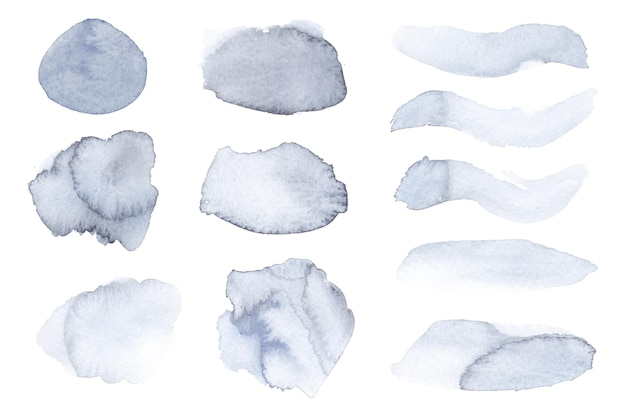 Ręcznie malowana kolekcja plam akwarelowych