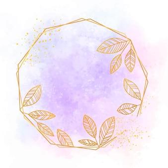 Ręcznie malowana złota rama