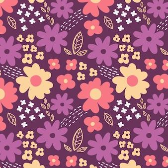 Ręcznie malowane abstrakcyjny wzór kwiatowy