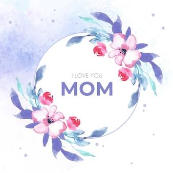 Ręcznie malowane akwarela ilustracja dzień matki